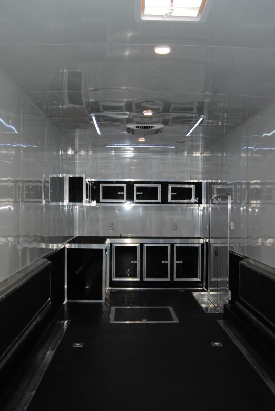 53' Millennium Gooseneck Enclosed Race Car Trailer w/14'+8' Living Quarter Slide Out