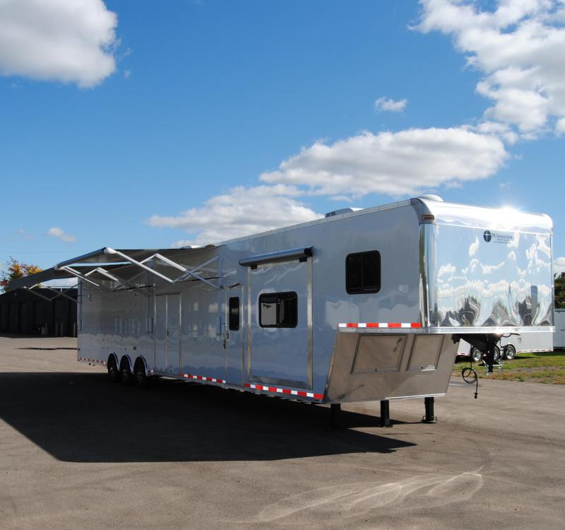 53' Millennium Gooseneck Enclosed Race Car Trailer w/14'+8' Living Quarter Slide Out in Ashburn, VA