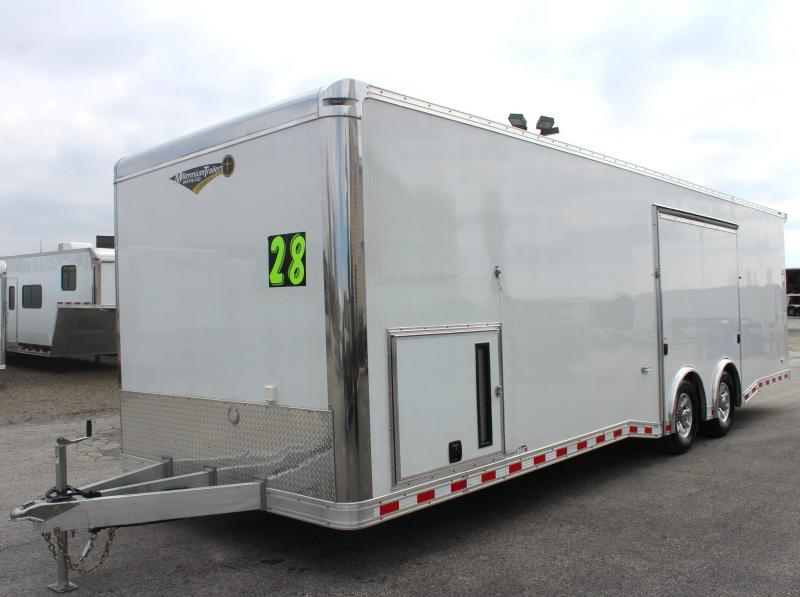 <b>Wide Car? Got You Covered!</b> 2019 28' Extreme Hybrid All Aluminum with Lrg. Escape Door w/Removable Wheel Box & Wing