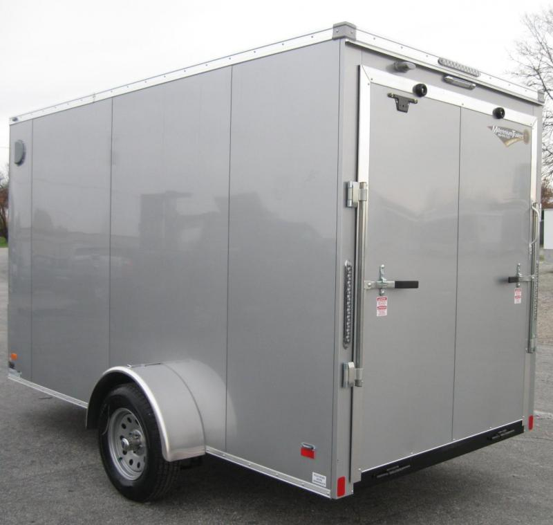 "6'x12' Scout Silver Enclosed Cargo Trailer with Plus Package & Free Options 6"" Extra High"