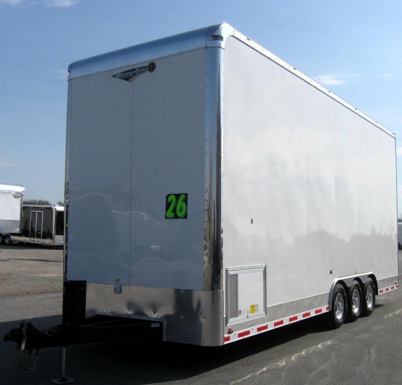 2019 26' STACKER Millennium Auto Master Tri Axle Trailer Black Cabinets