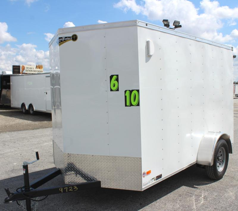 <b>NOW READY</b> 2020 6'x10' Hero Economy Enclosed Cargo Trailer with Ramp Door