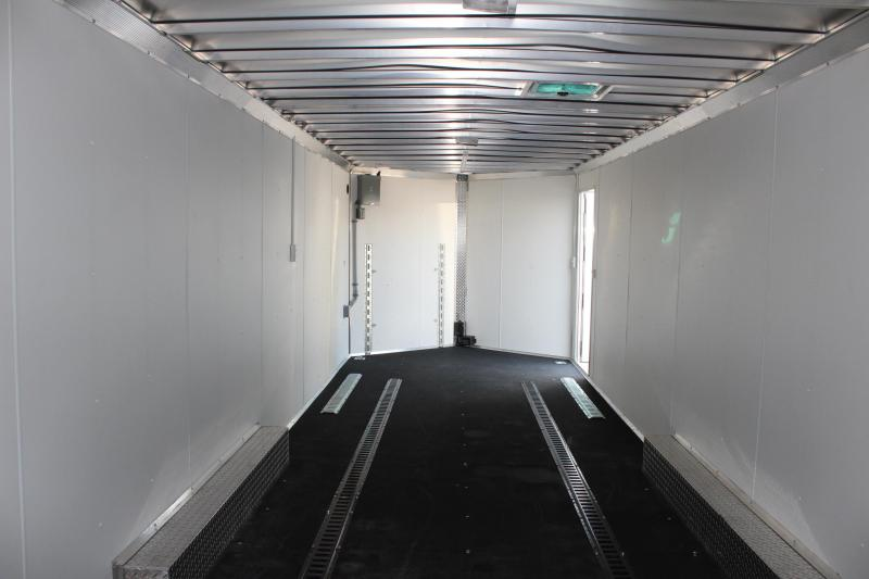 <b>REDUCED $1000 PRE-OWNED</b> 2016 28' Stealth Aluminum Car / Racing Trailer