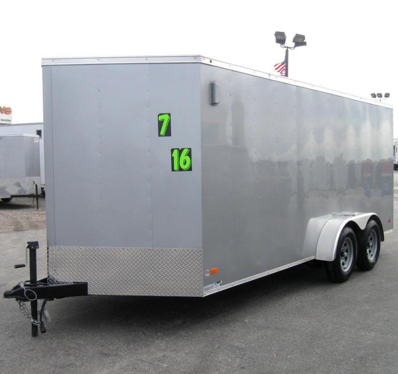 7'x16' Budget Priced Hero Enclosed Cargo Trailer in Ashburn, VA