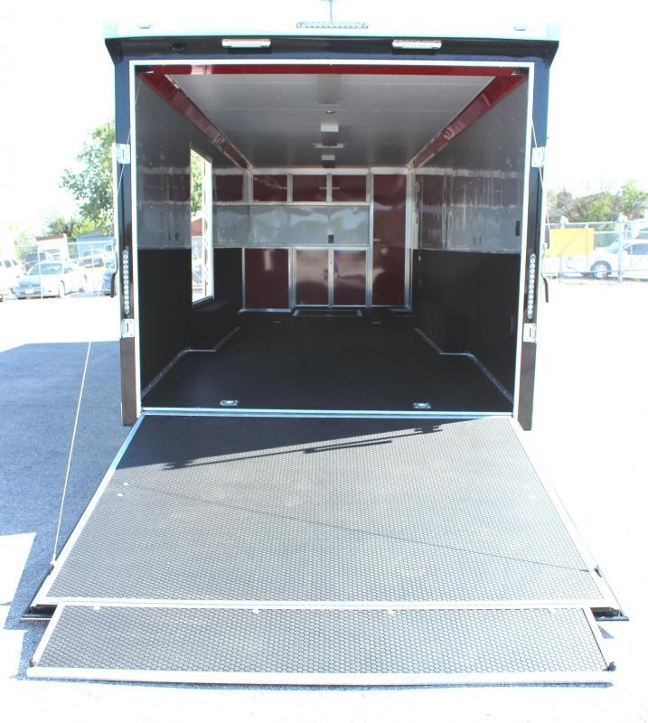 2020 28' Millennium Extreme Race Trailer w/Red Cabinets/Escape Door/ Rear Wing