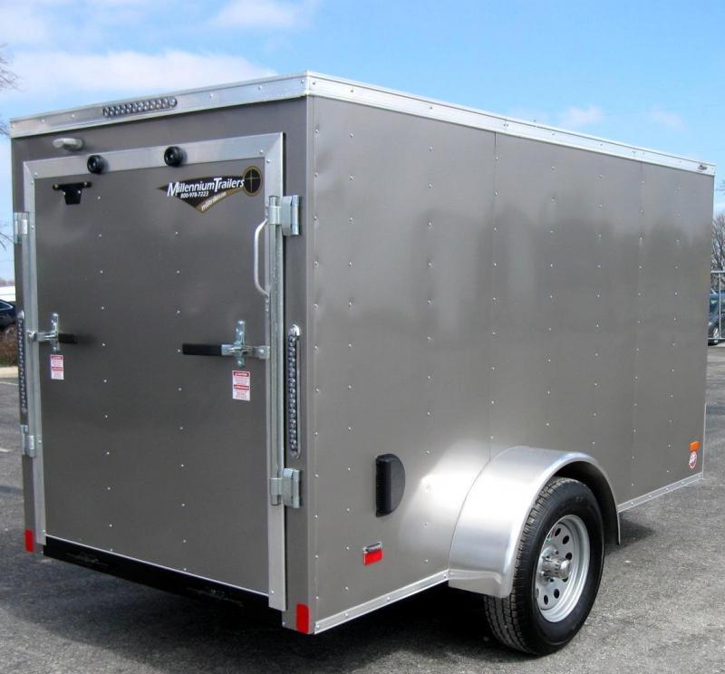 5'x10' Scout Enclosed Cargo Trailer Ramp Door Free Upgrades