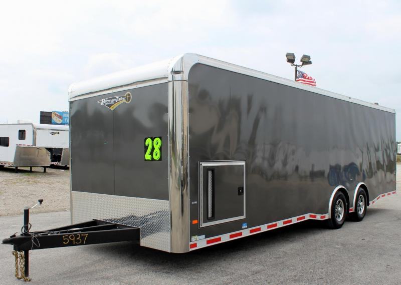 28' Millennium Thunderbolt Race Car Trailer Matching Charcoal Cabinets/Alum Wheels/Spread 6K Axles  in Ashburn, VA