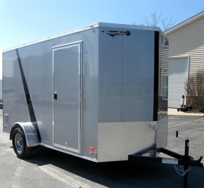 "6'x12' Scout Cargo Trailer Silver 2/Tone Trimmed Black 6"" Extra in Ashburn, VA"
