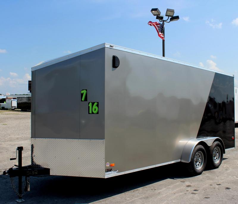 2019 7'x16' Scout Enclosed Cargo Trailer with Plus Pkg.