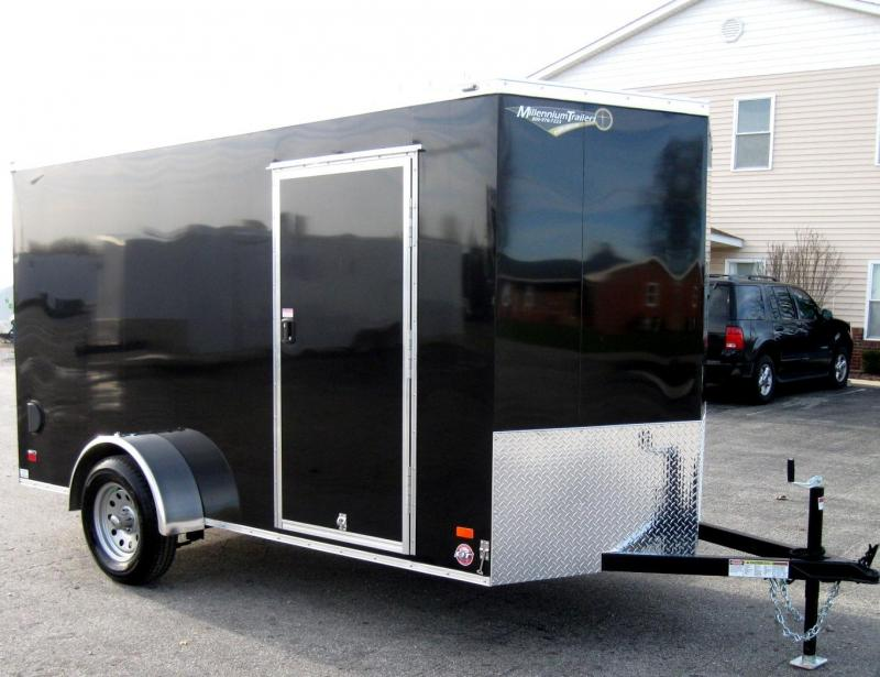 6'x12' Scout Black Enclosed Cargo Trailer with Plus Package & Free Options in Ashburn, VA