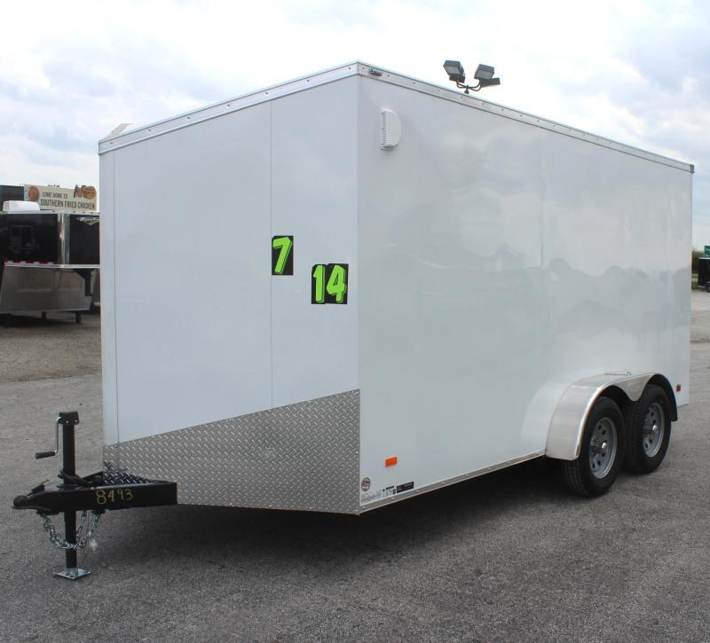 <b>Now Available</b> 2020  7'x14' Scout Screwless Cargo with Ramp Door FREE OPTIONS