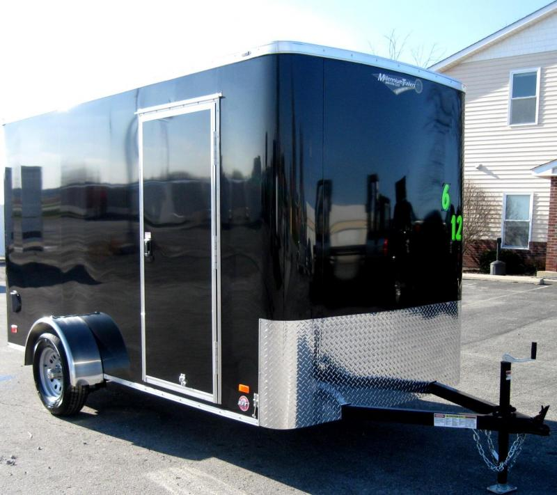 """6'x12' Scout Black Cargo Trailer w/ Plus Package/6"""" Extra High  & Free Options in Ashburn, VA"""
