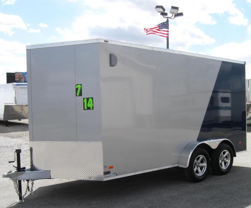 "ALL ALUMINUM 7'x14' Scout Cargo with Super Saver Pkg. 6"" Extra High Alum Wheels PLUS Free Upgrades  in Ashburn, VA"