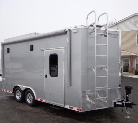 Custom 16' Millennium Motorcycle Enclosed Trailer
