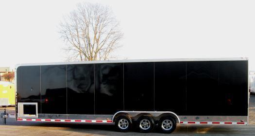 "2018 32' ALL ALUMINUM Auto Master 12"" Extra High /Black Cabinets/Diamond Ice Walls w/Carpet"