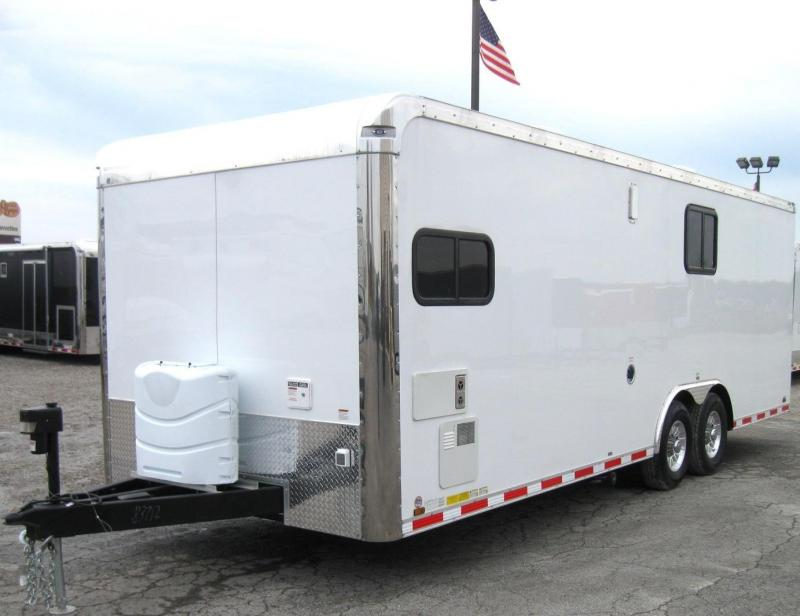 2019 24'  Millennium Toy Hauler with Living Quarters Diamond Ice Cabinets