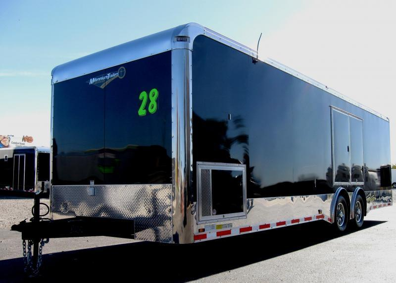 2019 28' Millennium Spread Axle Enclosed Race Trailer in Ashburn, VA