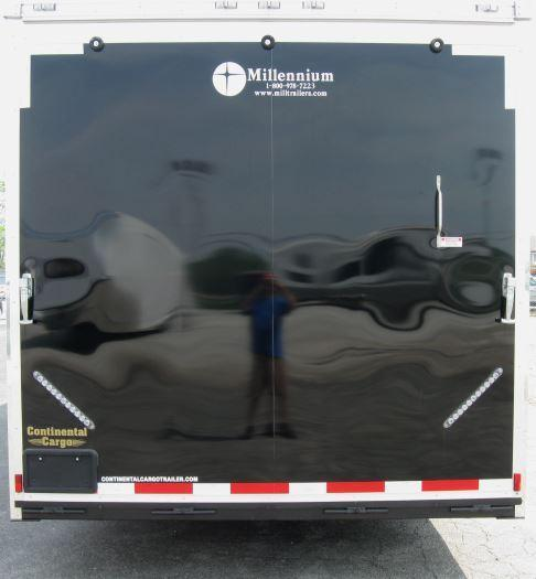 "2-Tone 28' Millennium Auto Master Race/Car Trailer 6K Axles/ 12"" Extra High"