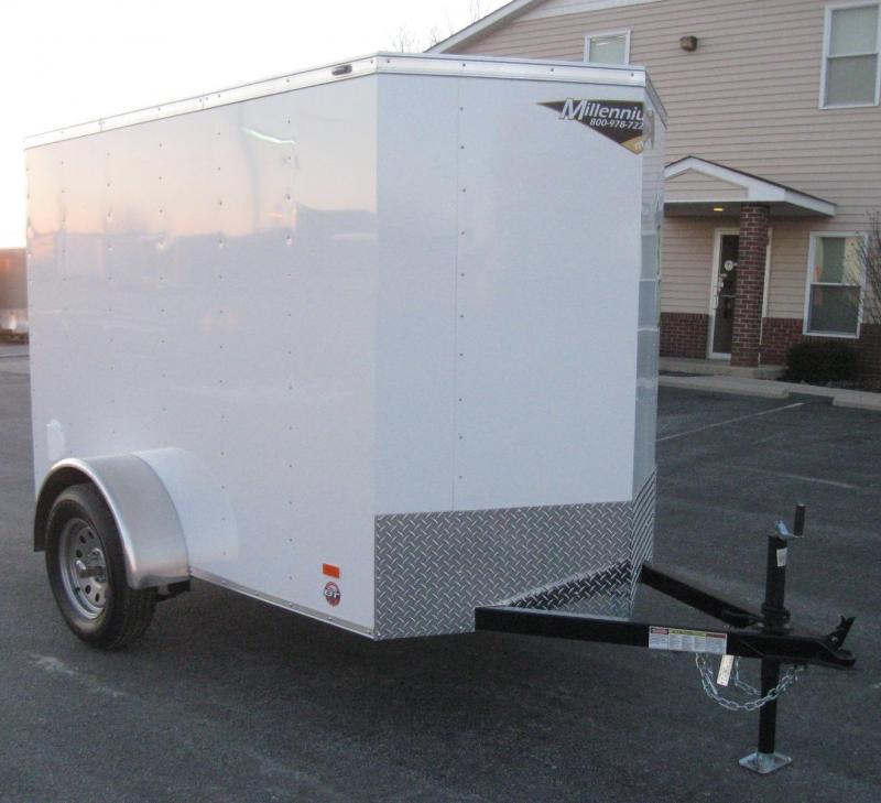 "5'x8' Scout Enclosed Cargo Trailer Ramp Door 6"" Extra High"