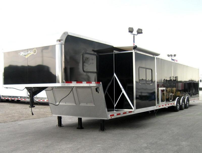 53' Millennium Silver Gooseneck Enclosed Race Car Trailer 14' +8' Living Quarters w/Slide in Ashburn, VA