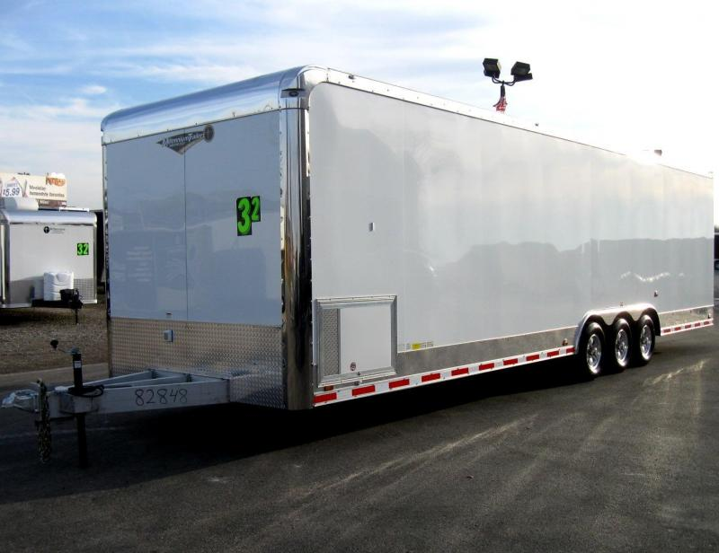 2019 All Aluminium 32' Millennium Enclosed Race Car Trailer LOADED