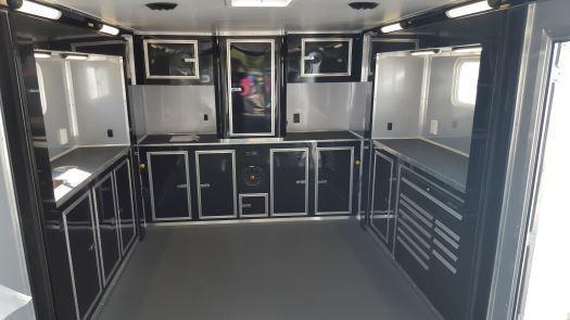 Custom Double Slides- 34' Millennium Auto Master Tri Axle Enclosed Trailer