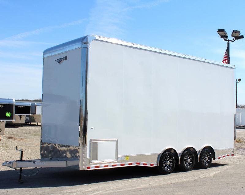 """<b>NOW READY</b> 2019 24' Aluminum Framed Millennium Stacker Trailer 14' Full Floor Lift 4"""" Extra Wide Ramp Door/Black Cabinets in Ashburn, VA"""