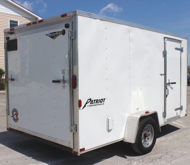 <b>JUST ARRIVED TRADE IN</b> 7'x12' 2016 Homesteader Patriot Enclosed Cargo Trailer