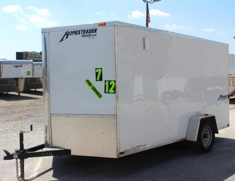 <b>JUST ARRIVED TRADE IN</b> 7'x12' 2016 Homesteader Patriot Enclosed Cargo Trailer