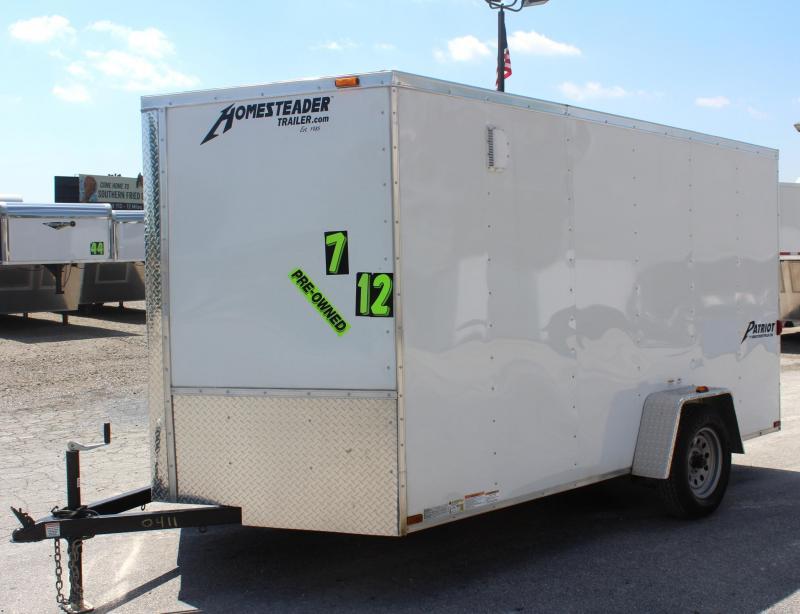 <b>Sale Pending</b>Pre-Owned 7'x12' 2016 Homesteader Patriot Enclosed Cargo Trailer