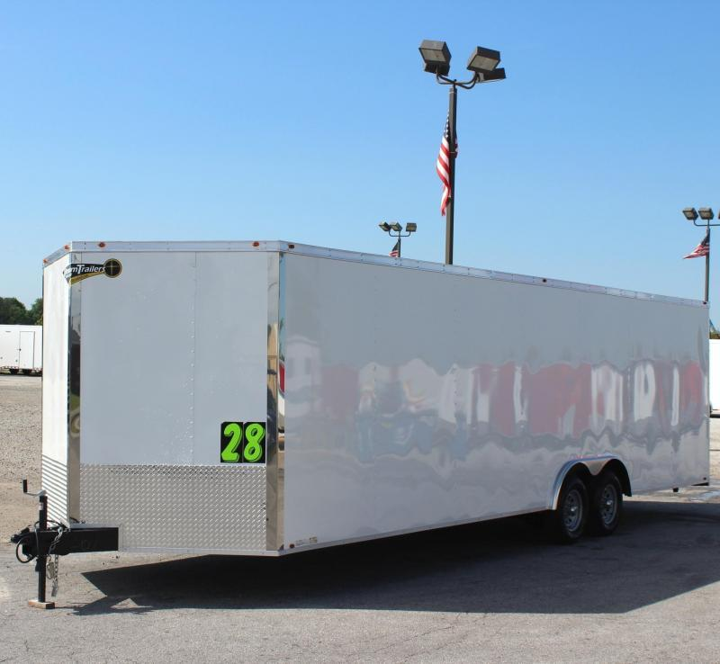 2019 28' Millennium Chrome Enclosed Race Car Trailer FREE RADIAL UPGRADE