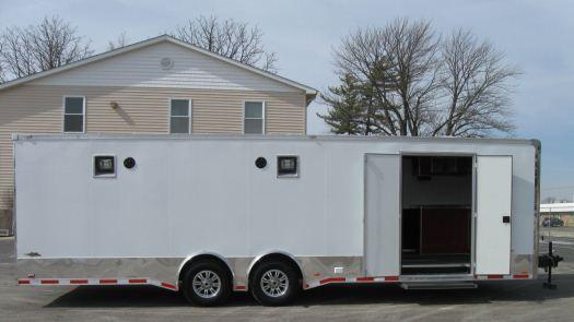 2018 28' Millennium Auto Master Red Cabinets Loaded Out!