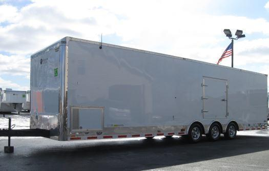 2018 32' Millennium Auto Master Tri Axle Enclosed Trailer Red Cabinets