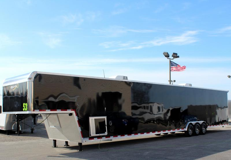 2019 53' Millennium Silver Enclosed Gooseneck Car Trailer SUPER LOADED in Ashburn, VA