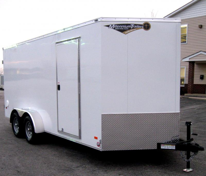 "7'x16' Scout Trailer Cargo Doors with Plus Pkg. & 6"" Extra High"
