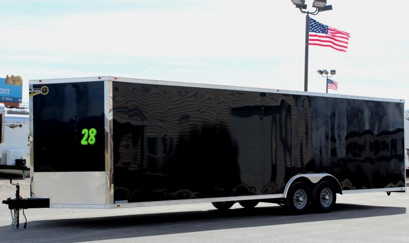 2019 28' Millennium Chrome Enclosed Trailer FREE Upgraded Radial Tires