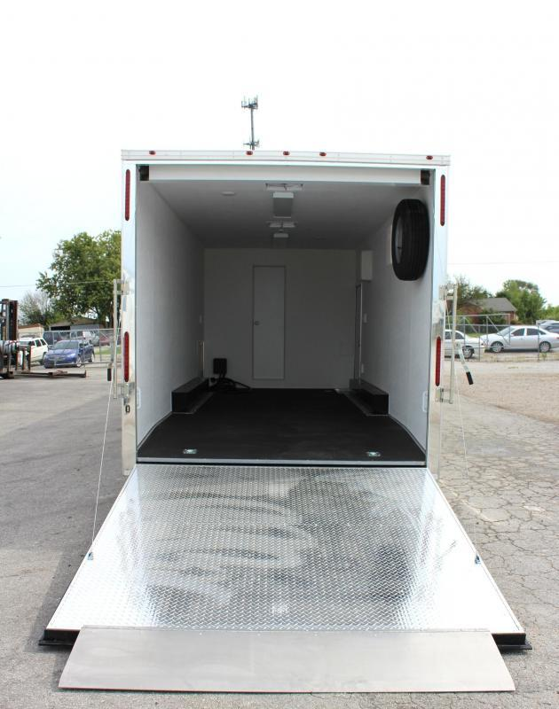 <b>Now Available w/Tapered Nose</b> 2019 40' Millennium Silver Enclosed Gooseneck Race Car Trailer w/12'XE Living Quarters