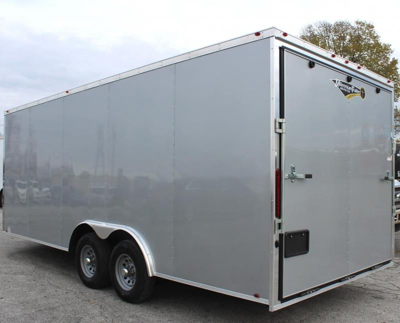 2019 20' Millennium Chrome Enclosed Race Trailer Heavy Duty Axles FREE RADIAL UPGRADE