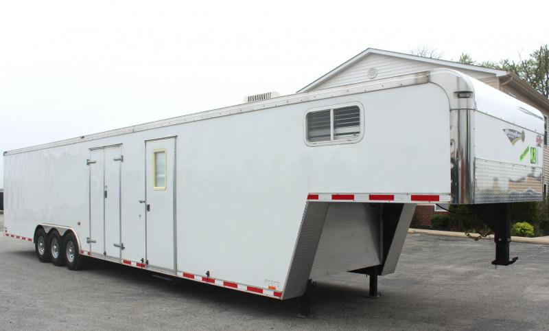 Pre-Owned GN w/Lounge WON'T LAST! 2013 42' Cargo Mate Eliminator Car / Racing Trailer w/Lounge in Ashburn, VA