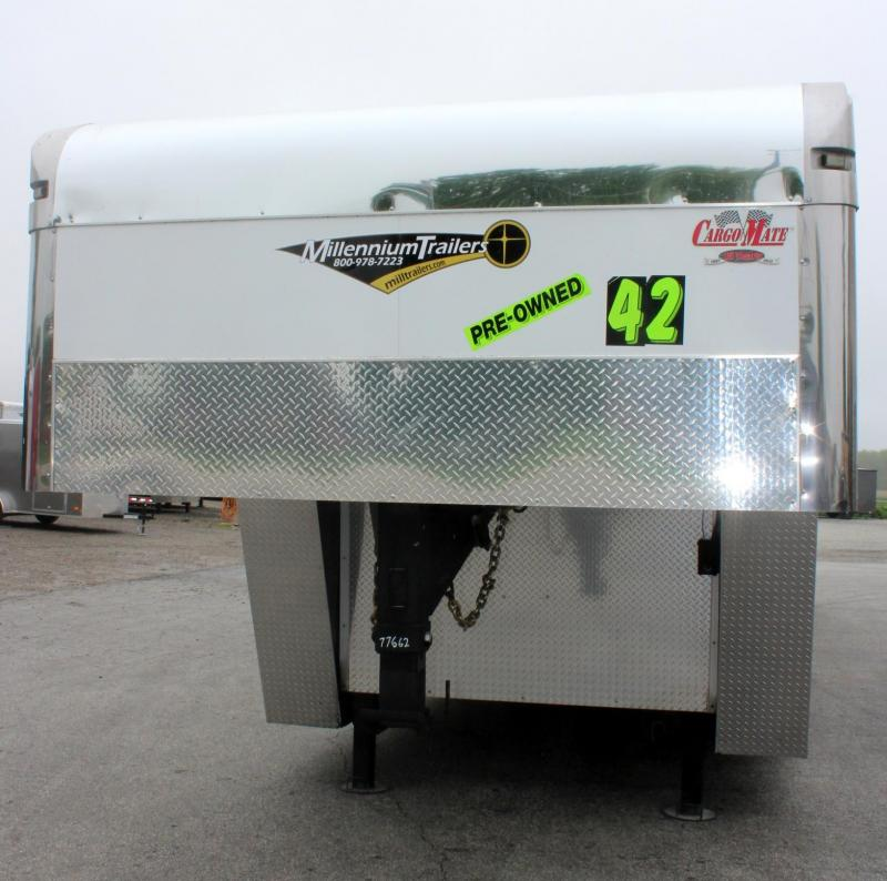 Pre-Owned GN w/Lounge WON'T LAST! 2013 42' Cargo Mate Eliminator Car / Racing Trailer w/Lounge