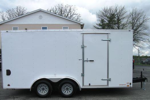 8'x16' Value Hauler Wedge Enclosed Cargo Trailer