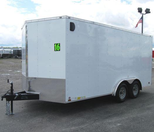 8'x16' Value Hauler Wedge Enclosed Cargo Trailer