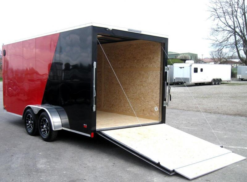 """7'x16' Scout Cargo Enclosed Trailer with Plus Pkg. 6"""" Extra"""