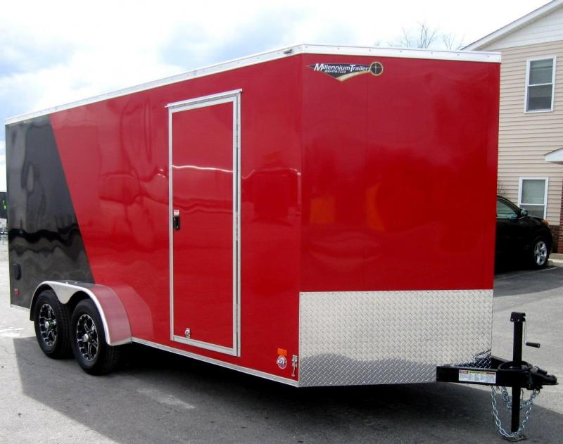 "7'x16' Scout Cargo Enclosed Trailer with Plus Pkg. 6"" Extra"