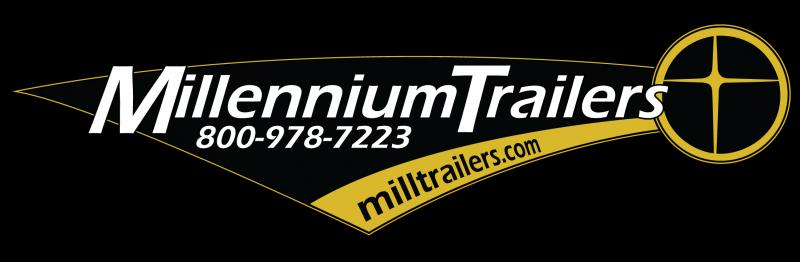 2019 44' Millennium Silver Enclosed Gooseneck Car Trailer Screwless Hydraulic Jack Plus More!