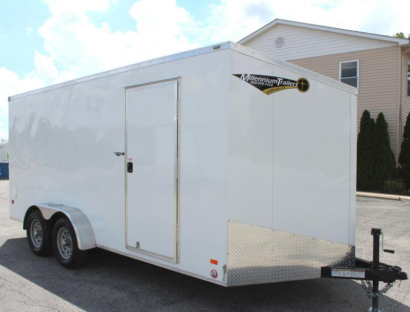 In Stock 2020  7' x 16' Scout Screwless Cargo with Ramp Door & FREE OPTIONS
