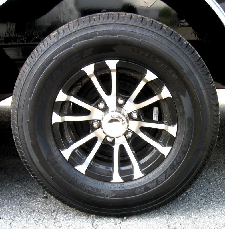 "<b>NOW READY</b> 2020 Black 36' Millennium Gooseneck w/Tapered Nose Alum Wheels Hydraulic Jack 16"" Wheels"