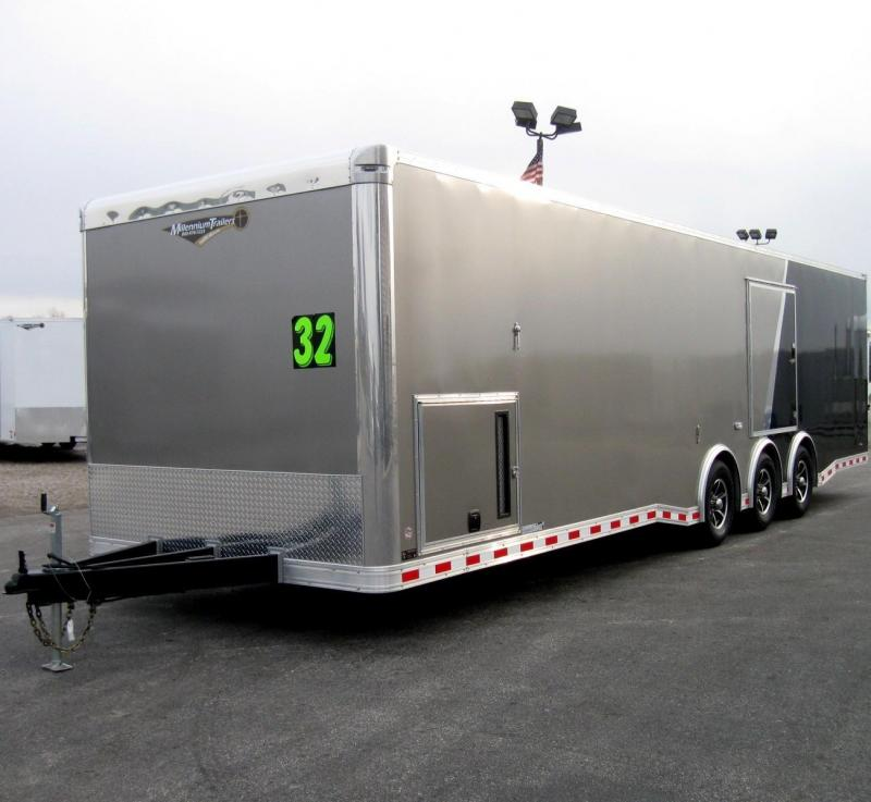 2018 32' NEW Millennium Extreme Race Trailer Pewter/Black LOADED