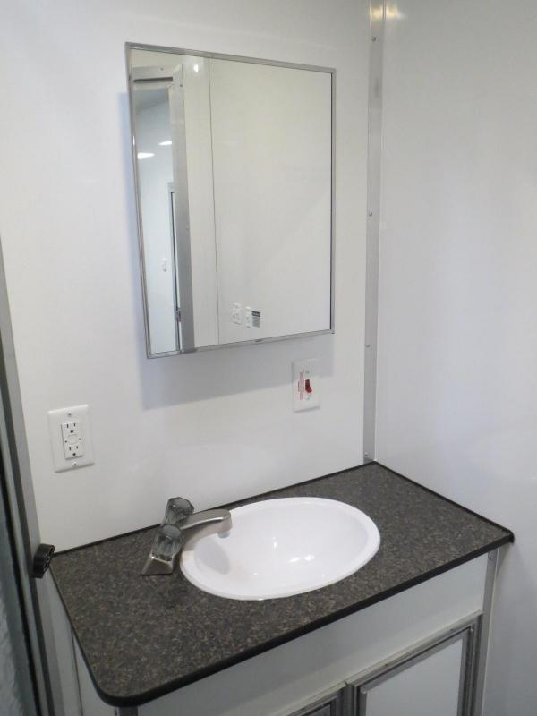 <b>Weekly Special</b> FULL LARGE BATHROOM w/SHOWER 2019 48' Millennium Platinum Enclosed Gooseneck Trailer Perfect Price/Perfect Options