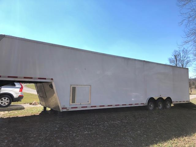<b>USED</b> 2016 40' Millennium Silver Car / Racing Trailer Finished Interior & More!